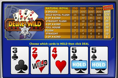 Deuces wild mh Video Poker