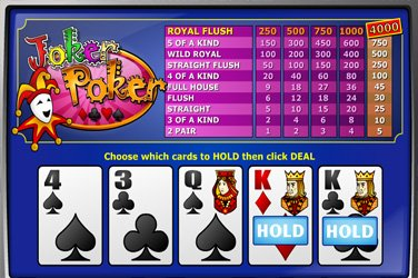 Joker poker mh Video Poker