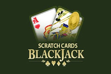 Blackjack scratch Rubbelkarten Spiel