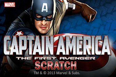 Captain america scratch Rubbelkarten Spiel