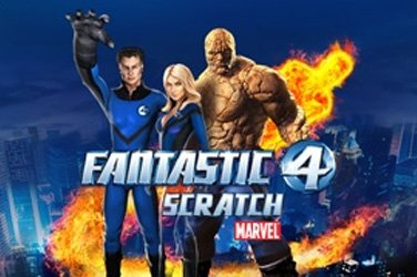 Fantastic four scratch Rubbelkarten Spiel