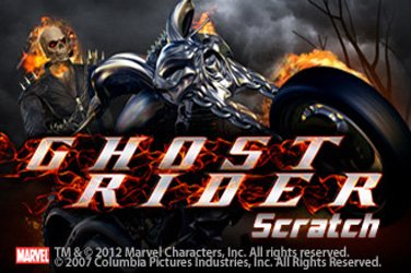 Ghost rider scratch Rubbelkarten Spiel