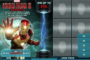Iron man 3 scratch Rubbelkarten Spiel