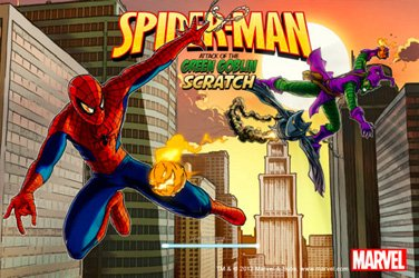 Spider-man scratch Rubbelkarten Spiel