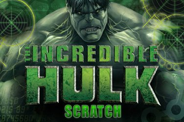 The incredible hulk scratch Rubbelkarten Spiel