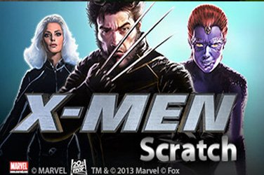 X-men scratch Rubbelkarten Spiel