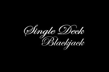 Single deck blackjack Tischspiel