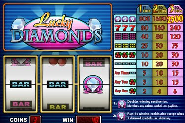Lucky diamonds Videoslot